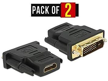 PC Trading - Adaptador para cable (macho DVI-I de 24+5 pines a hembra HDMI, conectores dorados): Amazon.es: Electrónica