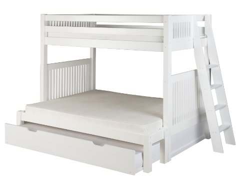 wooden bunkbeds twin over full - 9