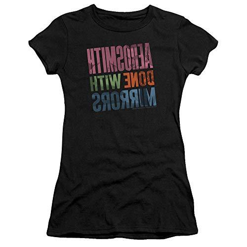 para Aerosmith camiseta con negros mujer hecha premium Bella espejos ZtSPxwtq6r