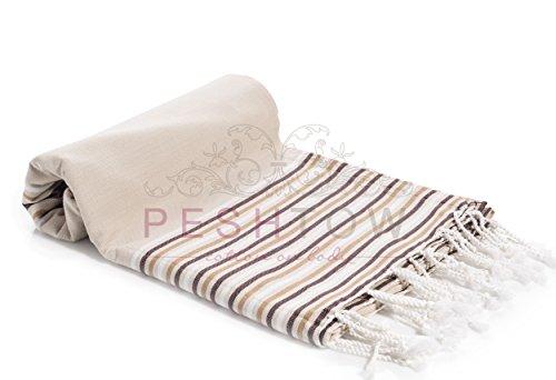 PESHTOW Turkish Peshtemal Towel, Turkish Fouta, Portofino - Bath Portofino