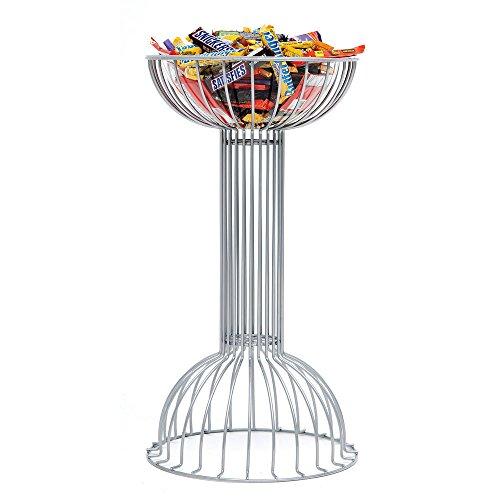 Floor Standing Merchandising Stand Silver Wire Floor Pedestal Display - 18