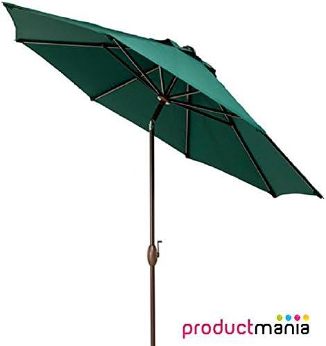 VORTEX 2,7 m paraguas diseño cilíndrico para sombrilla de jardín ...