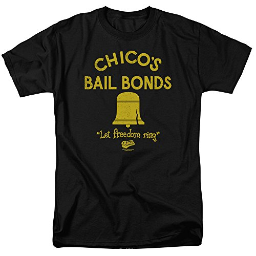 A&E Designs The Bad News Bears T-shirts - Chico's Bail Bonds Baseball Black Adult Tee Shirt, XL
