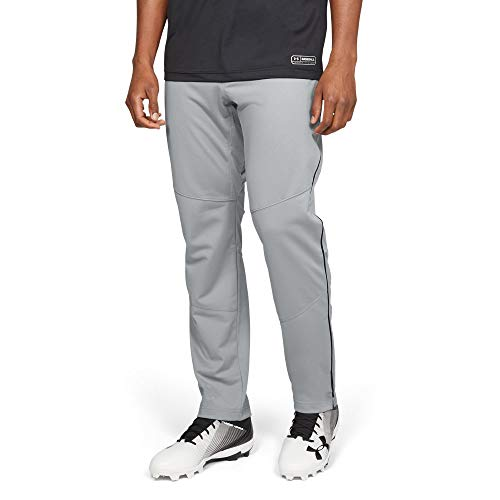 (Under Armour Men's IL Ace Relaxd Pant Pipe, Baseball Gray (080)/Black,)