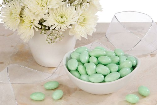 Green Jordan Almonds (5 Pound Bag) by FavorOnline