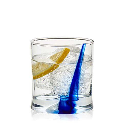 Libbey Blue Ribbon Impressions Rocks Glasses, 8-ounce, Set of 8 ()