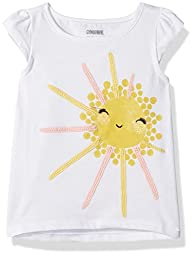 Gymboree Baby Toddler Girls\' Sunny Days Graphic Tees, White, 3T