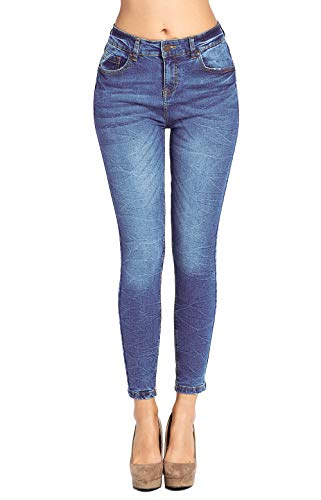 (Blue Age Women's Butt Lifting Skinny Jeans Denim High Rise (JP1084HA_MD_5))
