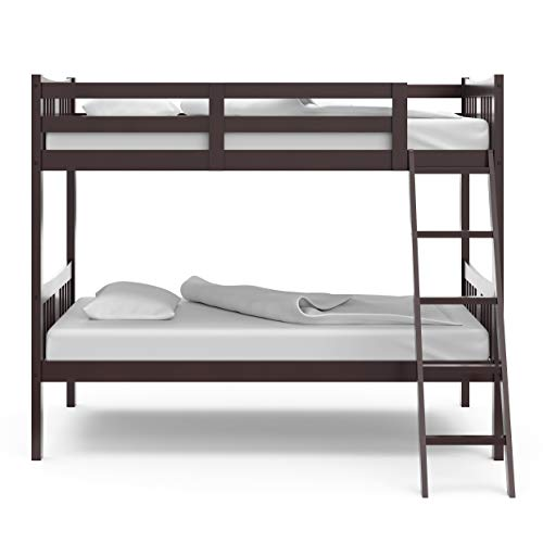 home, kitchen, furniture, bedroom furniture, beds, frames, bases,  beds 1 discount Storkcraft Caribou Solid Hardwood Twin Bunk Bed, Espresso deals