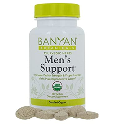 Banyan Botanicals Men's Support - Certified Organic, 90 Tablets - Promotes Vitality, Strength & Proper Function of the Male Reproductive System
