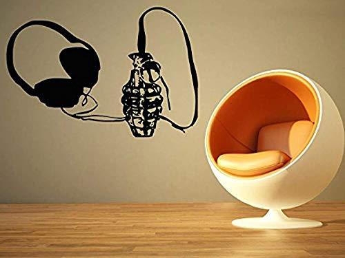Big Boy Grenades - Wall Vinyl Decal Room Decor Art Sticker Headphones Grenade Big HDS9196