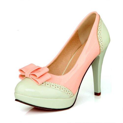 Fascino Piede Moda Archi Womens Piattaforma Tacco Alto Stiletto Mary Jane Pompa Abito Scarpe Verde