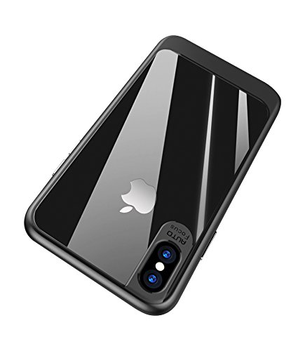 SCHUTZ for iPhone X Case, Soft Grip Matte Finish TPU PC Clear Hard Back Panel Hybrid Ultra-Thin Slim Fit Protect Cover Shock Absorption Back-Transparent Bumper for iPhone 10 / X - Phone Gucci Number