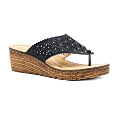 Women's Noleen Studded Thong Slide Wedge Sandal