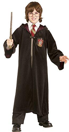 UHC Boy's Harry Potter Premium Gryffindor Robe Fancy Dress Halloween Costume, Child S (Favorite Character Book Costumes)