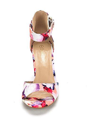 Dream Pairs Sandalias De Mujer Hher Low Heel Pump Floral