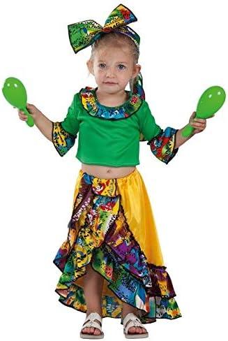 DISBACANAL Disfraz de Rumbera caribeña bebé - -, 24 Meses: Amazon ...