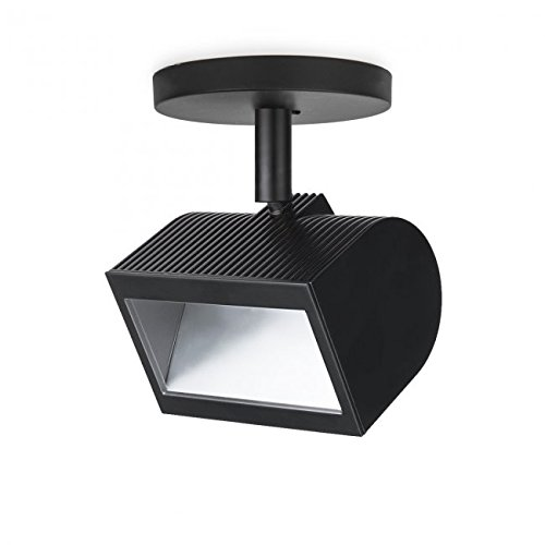 (WAC Lighting MO-3020W-930-BK Wall Wash LED Monopoint in Black,)
