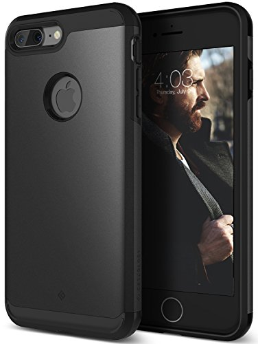 iPhone 7 Plus Case, Caseology [Titan Series] Heavy Duty Protection Defense Shield [Matte Black] [Elite Armor] for Apple iPhone 7 Plus (2016)