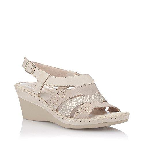 Sandales Mode Sandales De Féminine De Zapp Beige TzrTnUxw
