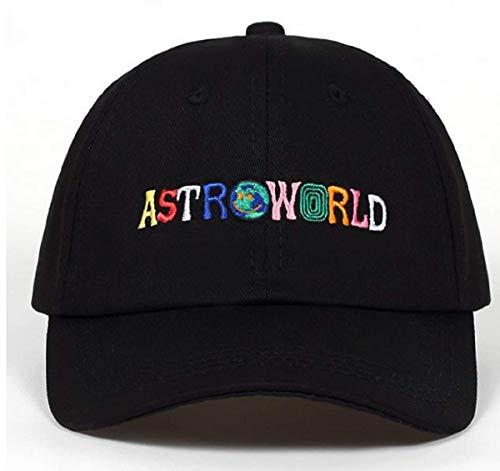 Scott Cap - Men Baseball Hat Cap Travis Scott astroworld Hip Hop Rap Snapback Adjustable Black Unisex dad hat