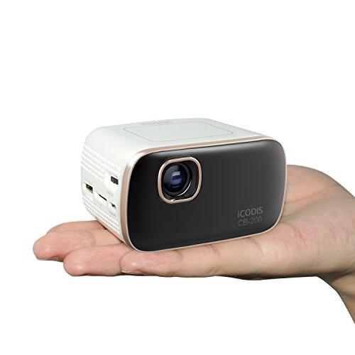 iCODIS CB-200 Pico Mobile Projector, 30,000-hour bulb life, 900 Lumen,WIFI DLP Portable Mini Pocket Size Projectors, Octacore Cortex A7
