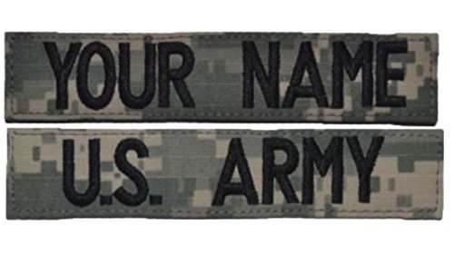- Custom 2 Piece ACU/UCP Name Tape with Uniform Hook Fastener