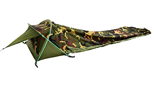 3 Season Bivy Tent - Geertop Ultralight 1-Person Waterproof Personal Bivy Tent - Fast Easy Setup - Only 2 Pounds 2 Ounces (Camouflage)