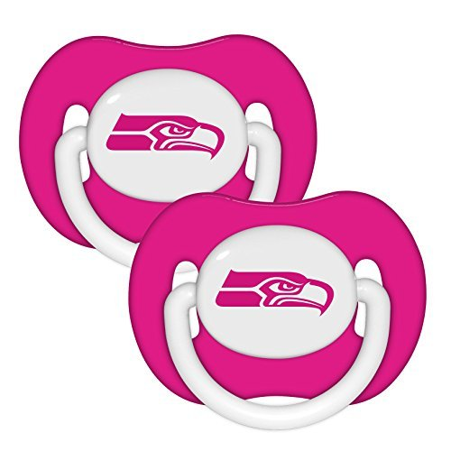 NFL Football 2014 Baby Infant Girls Pink Pacifier 2-Pack - Pick Team (Seattle Seahawks - (Pink Seahawks)