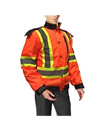 DuraDrive Basic 6-in-1 Hi-Vis Insulated Safety Traffic Winter Jacket