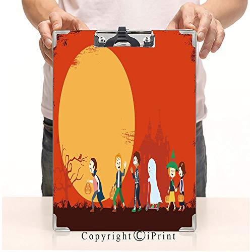 Printed Standard Size Paperboard Clipboard Profile Clip,8.85