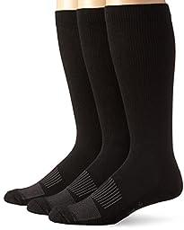 Wrangler Men\'s Western Boot Socks, Black, Large(Pack of 3)