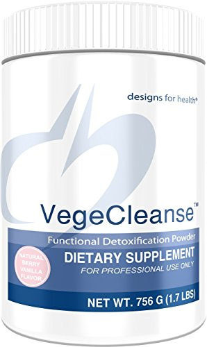 Designs for Health VegeCleanse - Berry-Vanilla Pea Protein Detox with 14 Grams of Pea Protein VegeCleanse (21 Servings, 756 Grams)