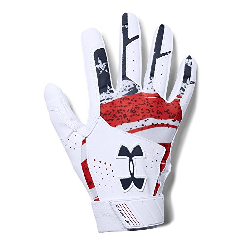 Under Armour Clean Up - Culture Gloves, White//Midnight Navy, Small