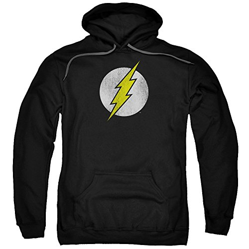 DC Comics Flash Logo Distressed Adult Pull-Over Hoodie
