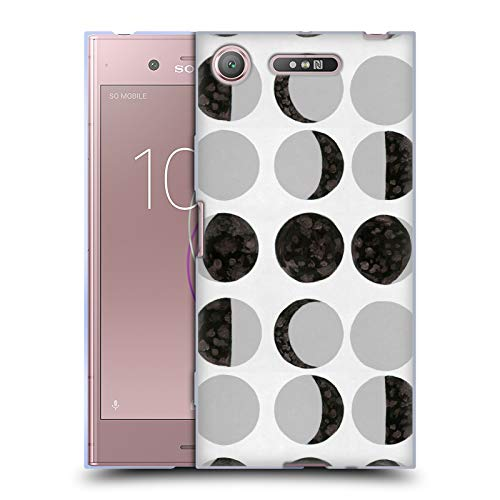 Official Amanda Laurel Atkins Moon Phases White Patterns Soft Gel Case for Sony Xperia XZ1 / Dual