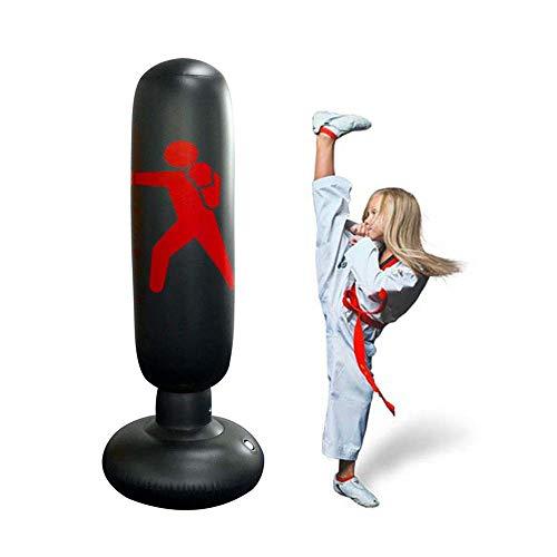 f4844b419f85 HomeYoo Standing Punching Bag, Heavy Punching Bag Kick Training Inflatable  Punching Tower Bag Freestanding Tumbler Column Boxing Sandbag Children ...