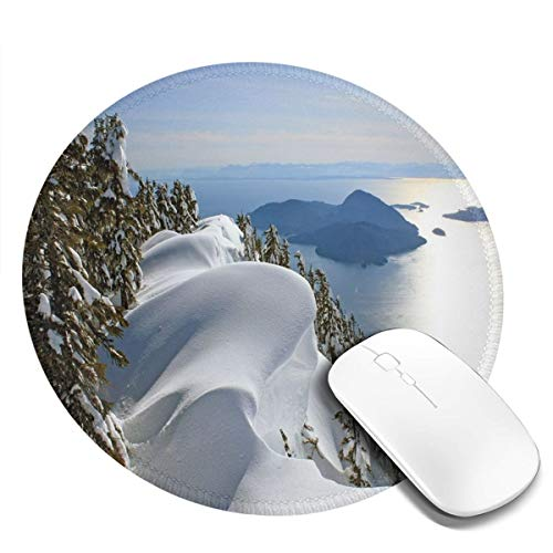 Round Mouse Pad,Pacific Ocean Meets The Mountains Vancouver, used for sale  Delivered anywhere in Canada