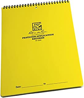 """product image for Rite in the Rain All-Weather Pesticide Application Record Notebook, 8 1/2"""" x 11"""", Yellow Cover (No. 1689)"""