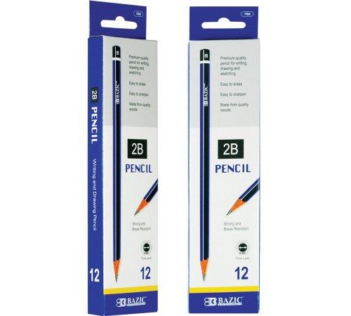 BAZIC #2B Premium Wood Pencil (12/Pack) (Case of 144) by Bazic