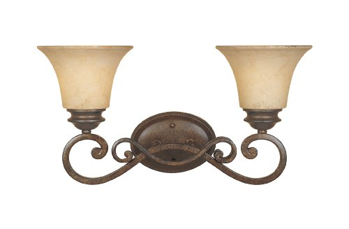Forged Bronze Two Light Bath - Designers Fountain 81802-FSN Mendocino 2 Light Bath Bar