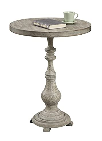 Convenience Concepts Wyoming Collection Spindle Accent Table, 23.5 x 23.5 x 29.75 , Antique Wood China Fir