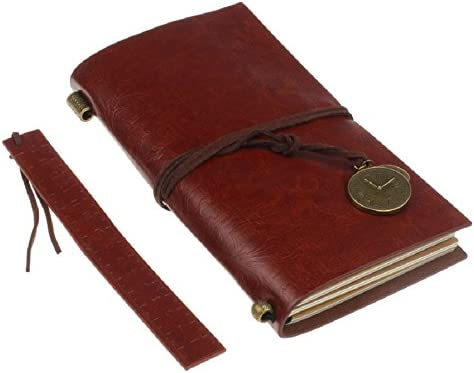Lowpricenice Red Classic Vintage Leather Bound Blank Pages Journal Diary Notebook TM