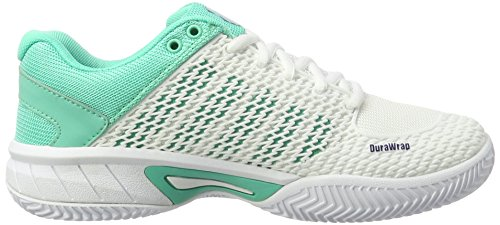 K HB Tenis Swiss White Zapatillas Green Express de Electric Ribbon Performance Light Blanco Blue para Mujer xppnIrq