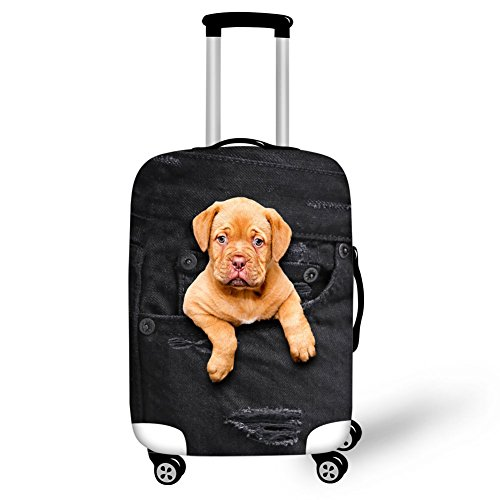 Coloranimal Elastic Thick Bordeaux Pattern Suitcase Luggage Covers for 26/28/30 Inch Trunk Case Review