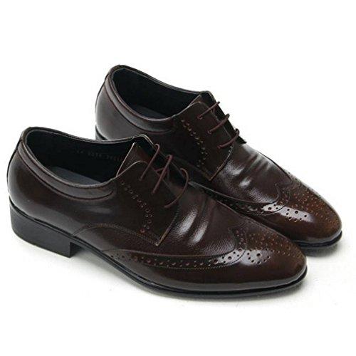 Epicstep Hommes En Cuir Véritable Wingtip Chaussures Robe Formelle Affaires Casual Lace Up Mocassins Oxford Brun