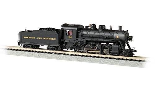 Baldwin 2-8-0 DCC Sound Value Econami Equipped Locomotive - Norfolk & Western #722 - N Scale