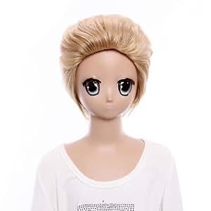 SureWells Cosplay Wig Short Wigs Hetalia Germany Costume Specail Wigs