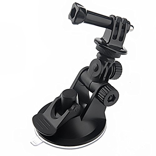FOTOWELT Car Windshield Suction Cup Holder + Tripod Mount + Handle Screw for GoPro HD Hero Hero2 Hero3 Hero3+ Hero4