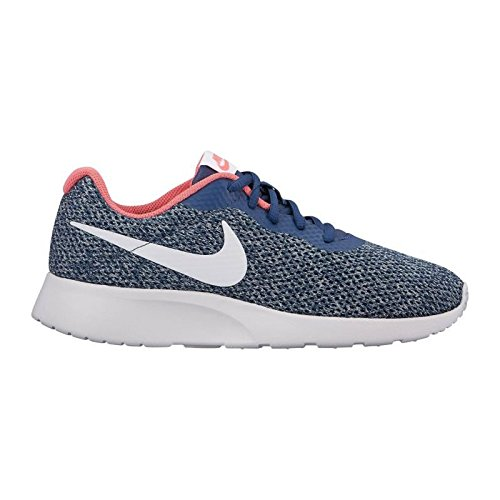 Nike Tanjun SE Women Sneaker Navy Vast Grey/Coral Racer Pink (8, Navy/VAST Grey-SEA Coral-Racer Pink) ()